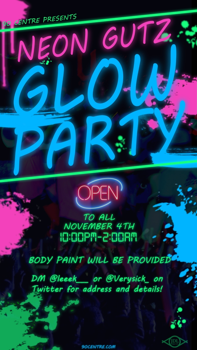 90Centre Blacklight Party !